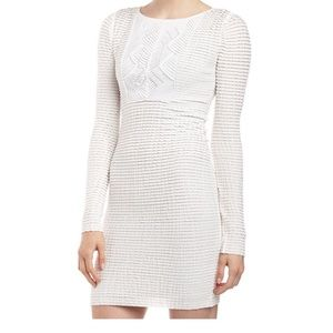 BCBG white bodycon dress